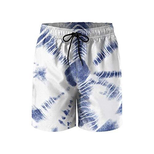 Jocper Herren Tie Dye Print Schnelltrocknend Strand Surf Board Shorts Badehose Cargo Shorts XL - Junioren Tie Dye