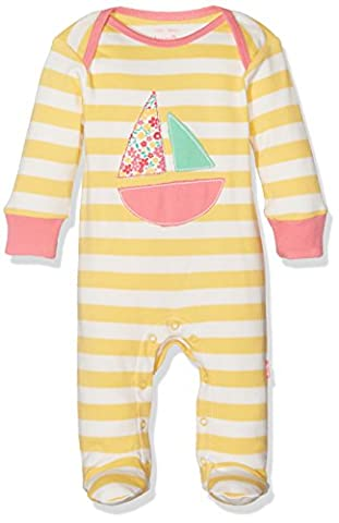 Kite Baby Girls' Sailing Sleepsuit, Yellow, 6-12 Months