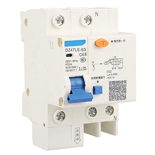DZ47LE-63 1P + N C63 RCCB Disyuntores de corriente residual 230V 63A...