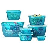 OldPAPA Frischhaltedosen, Luftdicht Aromaschutz, 7 Teile Vorratsbehälter mit Deckel
