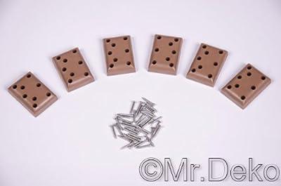 Kunstoff Gleiter für Strandkorb Gartenmöbel PE-Gleiter Set 6 Stück