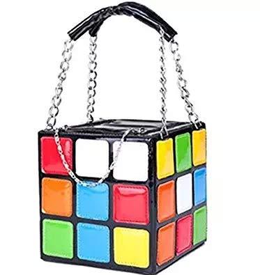 80s Rubik's Cube Clutch Handbag for Women