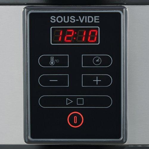 Severin Sous-Vide Cooker, 6.0 Litre, 550 Watt, Brushed stainless Steel, Black
