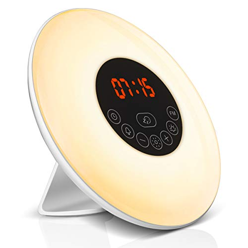 Elfeland Wake Up Light Despertador Luz Noche Radio