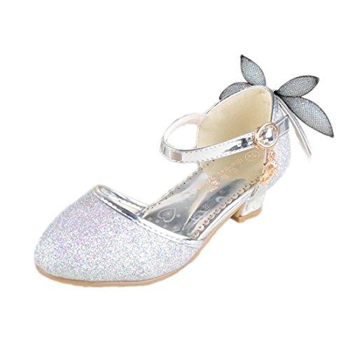 93ceb67600 Yy.f YYF Fille Chaussures Fille de Ballerines Enfant Chaussures de  Princesse Plat avec Libellule