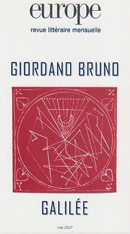 Europe, N° 937 : Giordano Bruno, Galilée