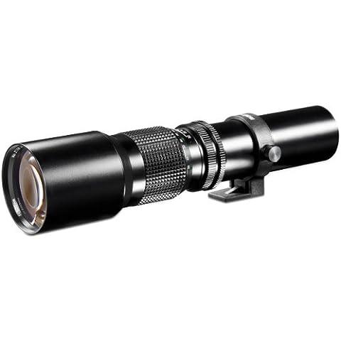 Walimex 500 mm f:8.0 - Objetivo para cuatro tercios, blanco