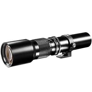 Walimex 500mm 1:8,0 DSLR-Objektiv für Sigma Bajonett schwarz (manueller Fokus, für Vollformat Sensor gerechnet, Filterdurchmesser 67mm, mit ausziehbarer Gegenlichtblende)