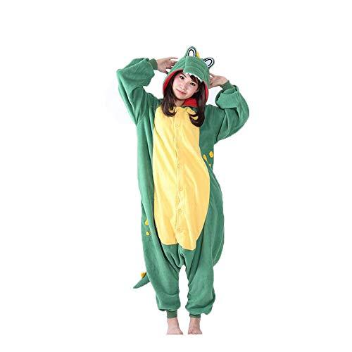 Plüsch Erwachsene Krokodil Für Kostüm - ZHANGZHIYUA Erwachsenen-Pyjamas - Plüsch-Einteiler Cosplay Krokodil Tierkostüm,M