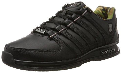 K-Swiss Herren Rinzler SP Sneaker, Schwarz (Black/Gunmetal/Camo), 42 EU
