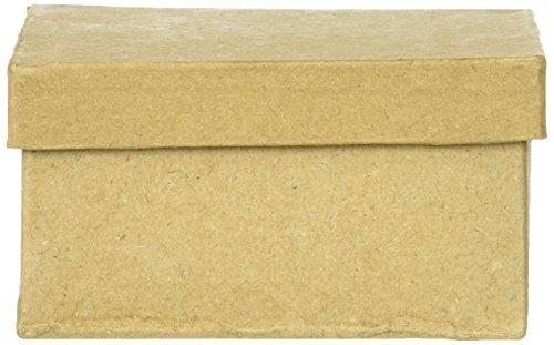 Papier Pappmaché Box-quadratisch-3in