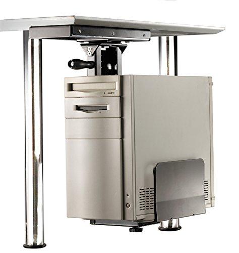 ROLINE PC Halterung | Untertisch Befestigung | Computer Halter | Tischhalterung drehbar | Schwarz