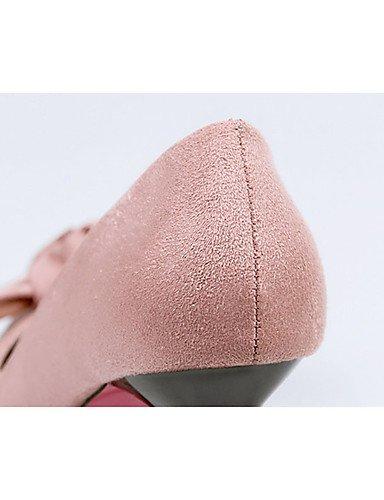 WSS 2016 Chaussures Femme-Décontracté-Noir / Vert / Gris / Bordeaux / Kaki-Gros Talon-Talons-Talons-Laine synthétique gray-us8 / eu39 / uk6 / cn39