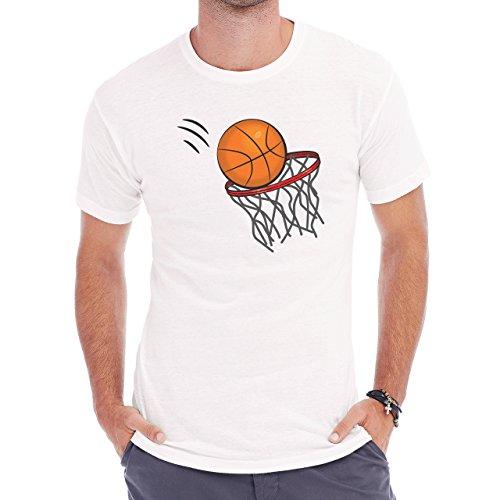 Basketball Hoop Orange Score Throw Herren T-Shirt Weiß