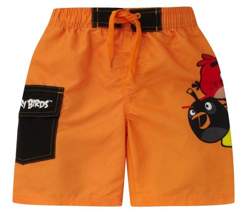 Boys Angry Birds Long Swim Shorts Trunks Ages 5-10 Years