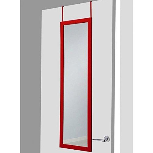 Espejo-para-puerta-rojo-sin-agujeros-37×128-cm
