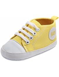 K-youth® Zapatos Bebe Primeros Pasos Zapatillas Niño Recién Nacido Zapatos Primeros Pasos Zapatilla de Deporte Antideslizante de Zapatos de Lona Zapatos de Bebé