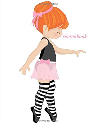 Sketchbook: A Red Hair Ballerina Themed Personalized Artist Sketch book Notebook and Blank Paper for Drawing, Painting Creative Doodling or Sketching. por Jaz Kiddies Books