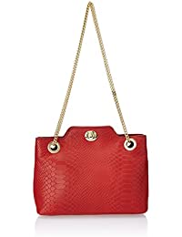 Hidesign SB Alya 01 Red Leather Women's Shoulder Bag (8903439339913)