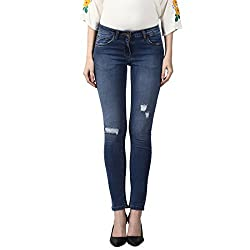 Park Avenue Woman Slim Fit Jeans (PWYY00478-B5_Blue_86)