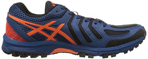 Asics Gel-fujiattack 5, Zapatillas De Trail Running Para Hombre Multicolor (poseidon / Flame Orange / Black)