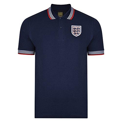 Official Retro England 1974 Empire Navy Polo shirt