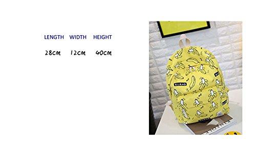 Ohmais Rücksack Rucksäcke Rucksack Backpack Daypack Schulranzen Schulrucksack Wanderrucksack Schultasche Rucksack für Schülerin gelb