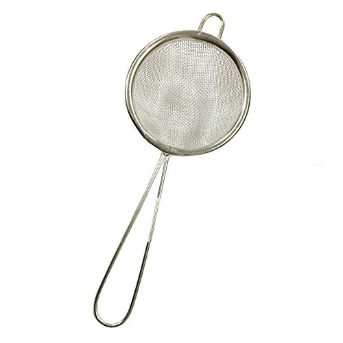7 cm tea strainer fine mesh SMALL SEIVE SIEVE stainless steel HOOKED END