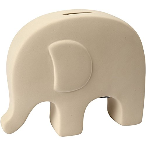 NEU Spardose Elefant. Terrakotta weiß. 1 Stück