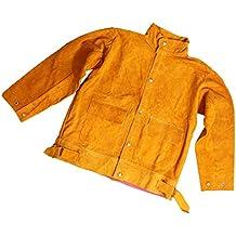 Homyl Chaqueta de Soldador Traje Soldadura Suministros de Limpieza Negocio Científico - Amarillo 2