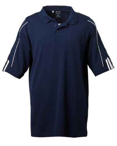 Adidas Golf Shirt Blau (adidas Golf Mens Climalite 3-Stripes Cuff Polo (A76) -Collegiate -3XL)