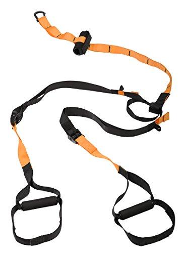 SportPlus Schlingentrainer Professional, Profi-Handgriffe, inkl. Türanker, Karabinerbefestigung und Transportbeutel, Sicherheits- und Schadstoffgeprüft, Modell 2017