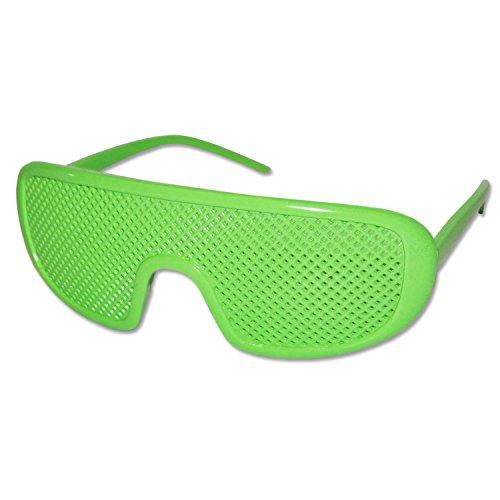 Grün Neuheit-Skifahren Shutter Shades Sonnenbrille (Green Ski)