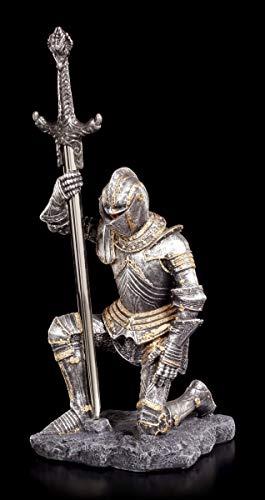 Brieföffner - Ritter Figur kniend mit Schwert | Schreibtisch Deko Mittelalter