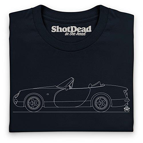 PistonHeads Chimaera Sports Car T-Shirt, Herren Schwarz