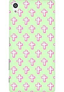 AMEZ designer printed 3d premium high quality back case cover for Sony Xperia Z5 Premium (cute crosses)