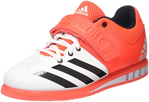 Adidas Unisex Adults Powerlift Multisport Indoor Shoes, White (White/Red), 10 UK 44...