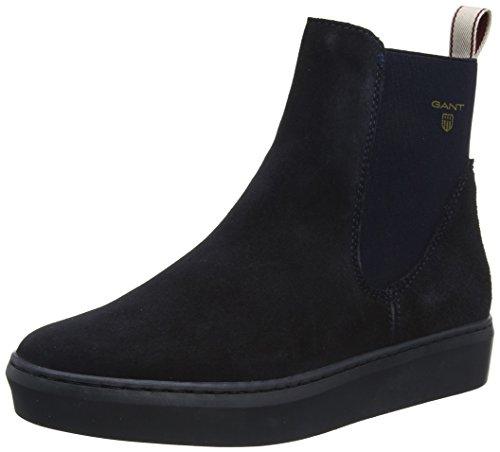 GANT Footwear Damen Anne Chelsea Boots, Blau (Marine), 39 EU (Schuhe Leder Boot Wildleder)