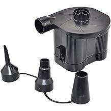 OBEST NIU 4D Baterías Bomba de Aire Eléctrica Incluyendo 3 Accesorios para Hinchar y Deshinchar Camas con Aire, Colchones de Aire, Piscinas Hinchables, Colchonetas, Flotadores u Otros Juguetes Hinchables(Batería 4D, No Incluidas)
