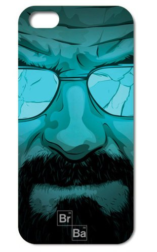 NdB 1359 - Cover Case Custodia per iPhone 4 e 4S Stampa Walter White Heisenberg Nera BrBa - Rigida