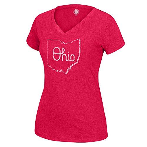 J. Amerika Frauen 'S Script Favorite Tee, Damen, Favorite Tee, rot - Amerika Womens V-neck T-shirt