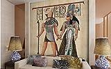 Tapete Fototapete Vlies Tapete 3D Tapeten Benutzerdefinierte Fototapete Wohnzimmer Sofa Tv Hintergrundbild Persönlichkeit Restaurant Großes Wandbild Ägypten Tapete Wandbild