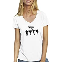 The Beatles Rock Kings T-Shirt für Damen mit V-Ausschnitt