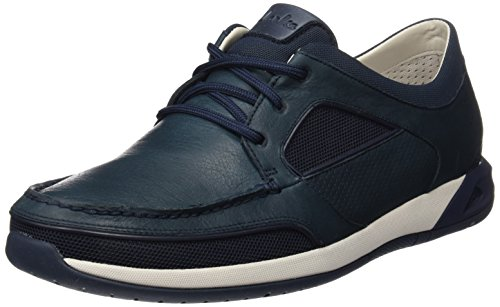 Clarks Ormand Sail, Chaussures Bateau Homme Bleu (Navy Leather)