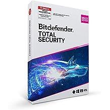 Bitdefender Total Security Multi Device - Inkl. VPN - 1 Jahr / 5 Geräte für Multi Plattform (PC, Mac, Android und iOS)