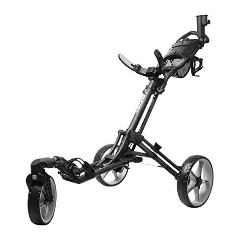INCONTRO Golf Push Trolleys, einklappbares Dreirad mit schwenkbarem Vorderrad