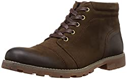 Numero Uno Mens Coffee Leather Boots -10 UK/44 EU