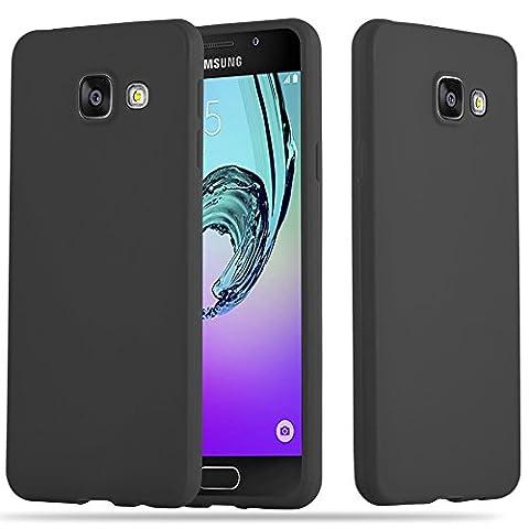 Cadorabo - Ultra Slim TPU Candy Etui Housse Gel (silicone) pour Samsung Galaxy A3 (6) (Modèle 2016) - Coque Case Cover Bumper en CANDY-NOIR