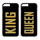Doppelhülle 'King & Queen' schwarz | Apple iPhone 5 6 6 7 / Galaxy S5 S6 S7 etc., Hülle:Design 4, Handy:Apple iPhone 5 / 5S / SE