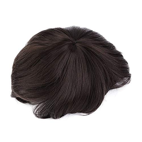Korean Men's Handsome Short Straight Hair Synthetic Full Wigs Cosplay Party 3 Colors Fiber Breathable Fit Different Head Types